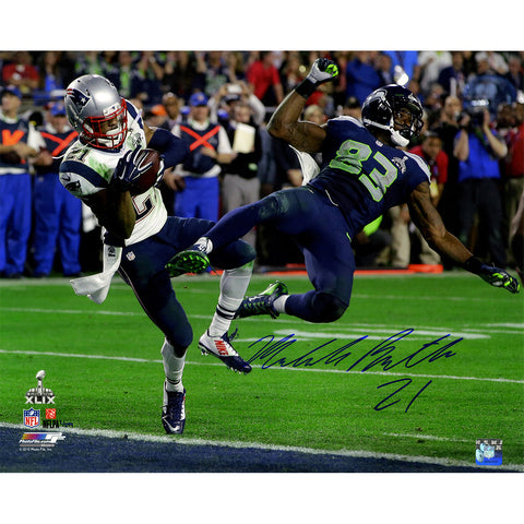 Malcolm Butler Signed Metallic Superbowl 49 INT 16x20 Photo (LE/149)