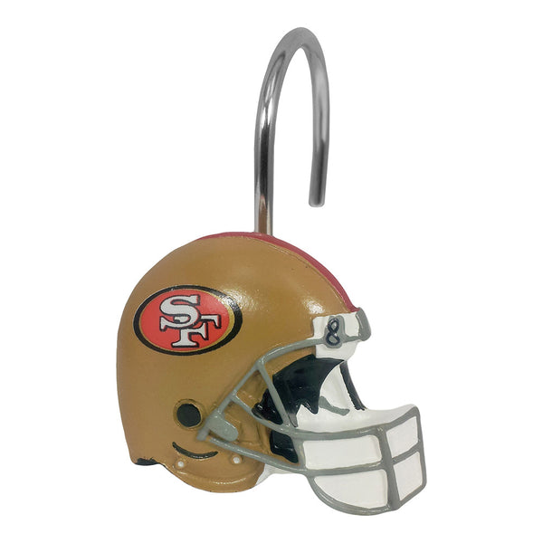 49ers nfl shower curtain rings parade of novelties sports
