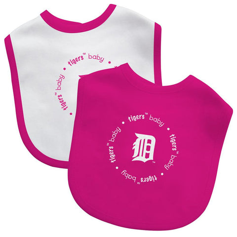 2 Pack Pink Baby Fanatic Bib Detroit Tigers