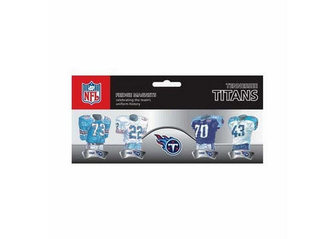 4 Pack Uniform Magnet Set - NFL - Tennessee Titans