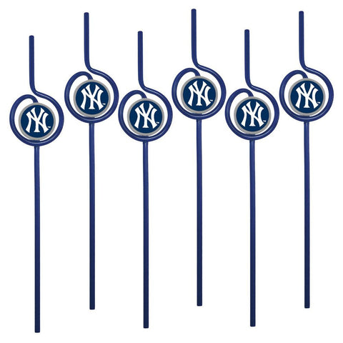MLB New York Yankees Team Sip Straw 6-Pack