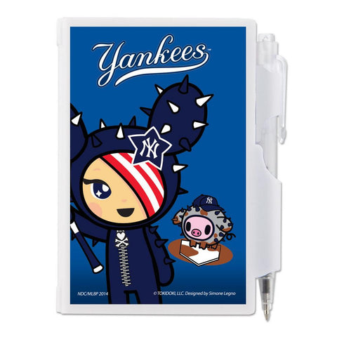 Tokidoki MLB New York Yankees Deluxe 5x7 Hardcover Notebook and Pen Set