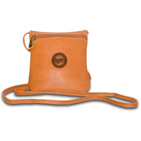 Pangea Tan Leather Womens Mini Bag - Minnesota Twins