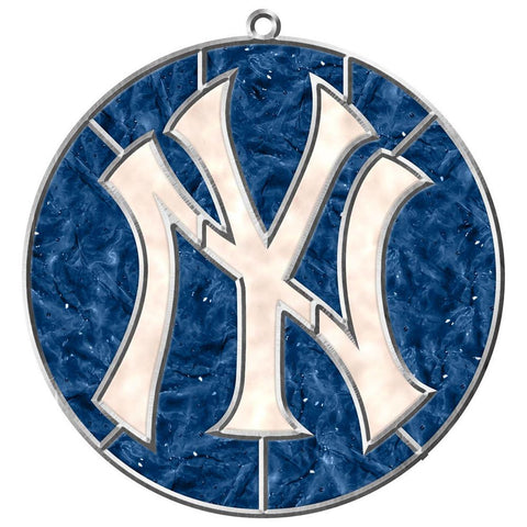MLB New York Yankees Makit and Bakit Stained Glass Ornament