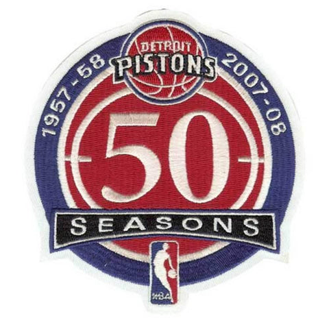 NBA Logo Patch - Detroit Piston 50Th Anniversary