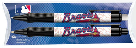 National Design Atlanta Braves Grip Pen and Pencil Set in Pillow Pack (11014-GCM)