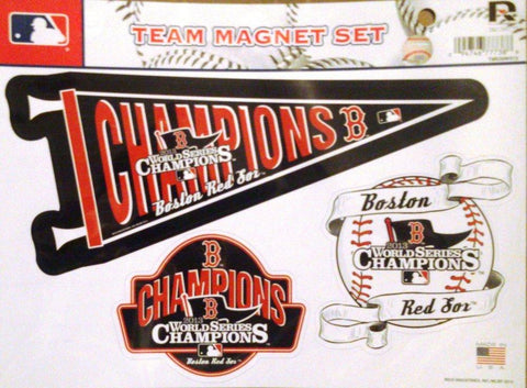 Boston Red Sox 2013 World Series Champions Magnet Sheet Auto Home MLB Baseball