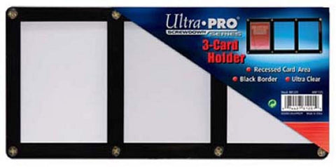 Ultra Pro 3-Card Black Frame Card Holder With Recessed Card Area