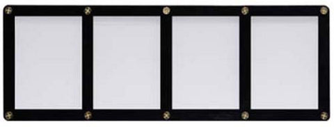 Ultra Pro 4-Card Black Frame Card Holder With Recessed Card Area