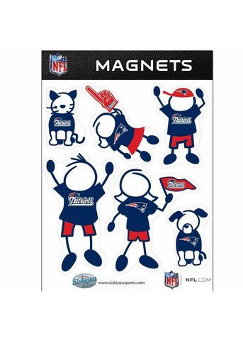 NFL New England Patriots Family Magnet Set
