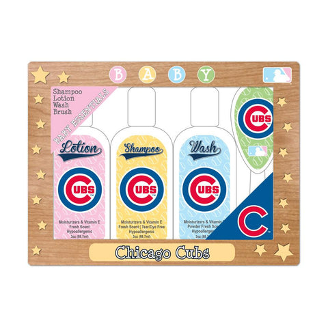 MLB Chicago Cubs Baby Gift Set  7.25 x 5.75 x 1.5-Inch  White