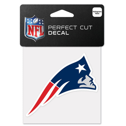 New England Patriots NFL Perfect Cut Color Decal 4 x 4