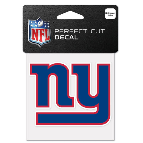 New York Giants NFL Perfect Cut Color Decal 4 x 4