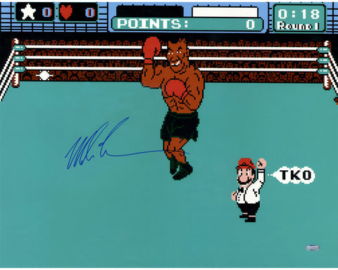 Mike Tyson Signed Punch Out 16x20 Photo