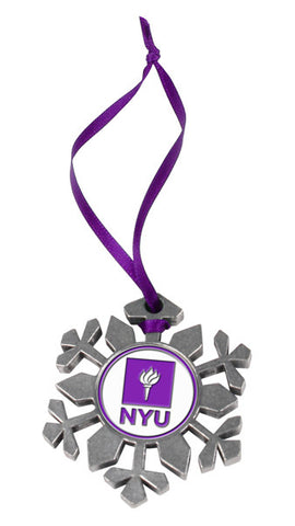 New York University Violets - Snow Flake Ornament