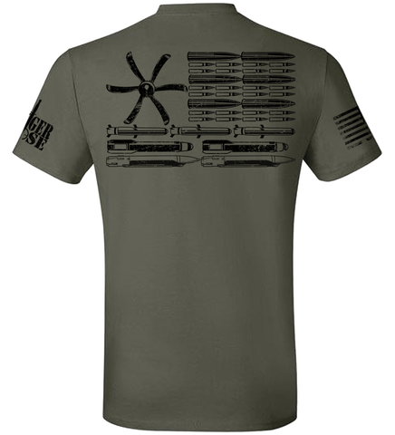AC-130J Bullet Flag - Premium T-shirts - Limited Supply