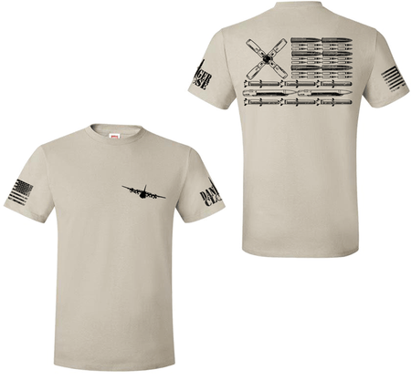 AC-130W Spectre/Stinger II Bullet Flag - Premium Tee - LIMITED SUPPLY - Danger Close Apparel - Military Shirts - First Responder - Patriotic - Gadsden