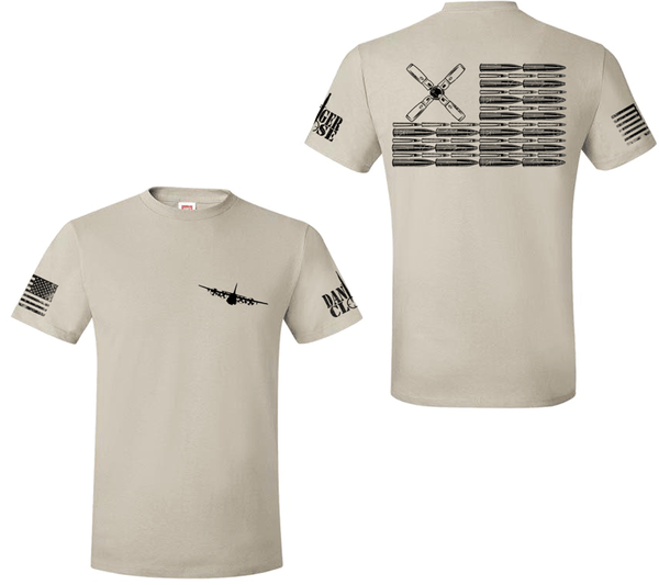 AC-130H Bullet Flag - Premium Tee - LIMITED SUPPLY - Danger Close Apparel