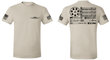 A-10 Warthog Bullet Flag - Men's and Ladies' Tees - LIMITED SUPPLY - Danger Close Apparel - Military Shirts - First Responder - Patriotic - Gadsden
