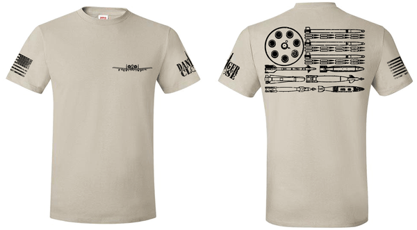 A-10 Warthog Bullet Flag - Men's and Ladies' Tees - LIMITED SUPPLY - Danger Close Apparel - Military Shirts - Veteran-owned
