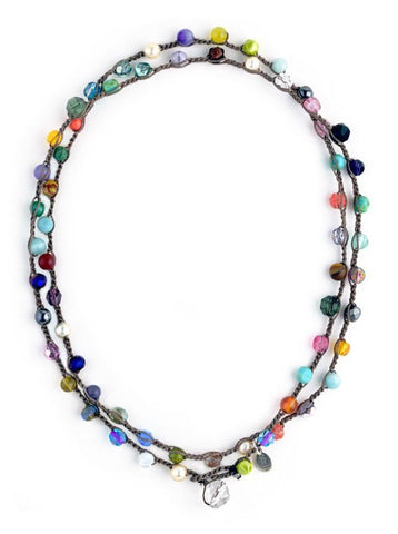 24/7 Necklace - Multi - Large Bead - On U Jewelry