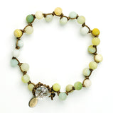Amazonite Why Knot Bracelet - matte finish
