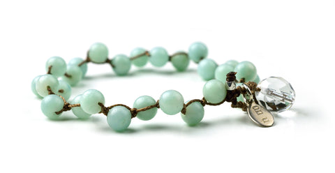 Amazonite Why Knot Bracelet - gloss
