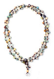 Amazonite Why Knot Necklace - Long