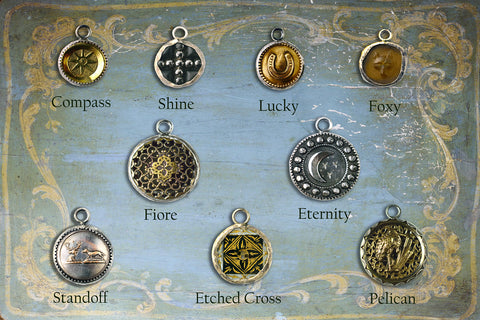 Antique Button Pendants