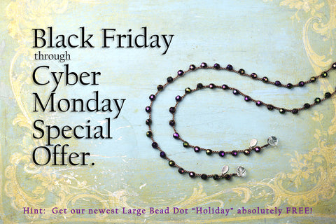 Dot Necklaces - Large Bead - Black Friday through Cyber Monday Special Offer!
