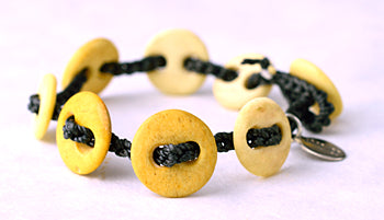 Bone Button Bracelet