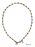 On U Jewelry - Small Bead Dot Necklace - Bronze