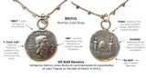 Brutus Roman Coin Drop - On U Jewelry - 2