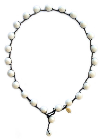On U Jewelry - White Chalk Bubble Necklace by Donna SIlvestri, Richmond, Virginia