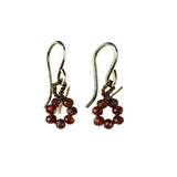 on u jewelry - Circle of Life Earrings - Garnet