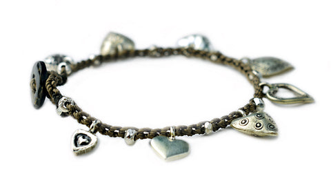 On U Jewelry - Charmed Life Bracelet featuring sterling silver Thai hearts - by Donna Silvestri, On U Jewelry