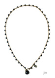 On U Jewelry - Small Bead Dot Necklace - Jet
