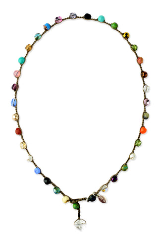 Dot Necklace - Multi - Large Bead