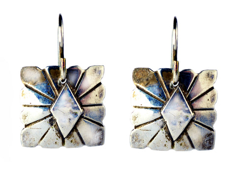 Navajo Silver Earrings by Donna Silvestri, On U Jewelry, Richmond, Virginia