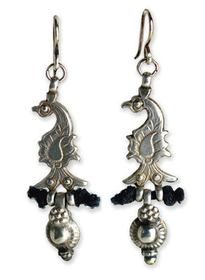Antique Afghan Silver Peacocks - On U Jewelry