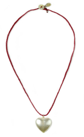 Puffy Heart Necklace by Donna Silvestri, On U