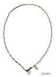 On U Jewelry - Small Bead Dot Necklace - Sparkle