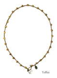 On U Jewelry - Small Bead Dot Necklace - Toffee