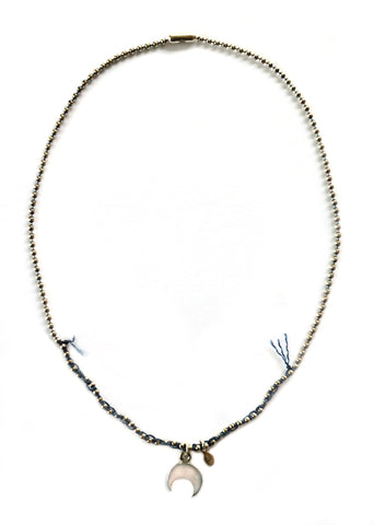 Waning Crescent Moon Necklace by Donna Silvestri, On U Jewelry