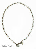 On U Jewelry - Small Bead Dot Necklace - White Chalk