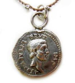 Brutus Roman Coin Drop - On U Jewelry - 1
