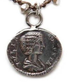 Julia Domna Roman Coin Drop - On U Jewelry - 1