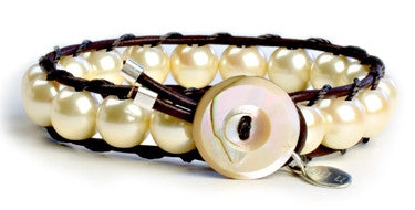 Gatsby - Large Bead Faux Pearl - On U Jewelry