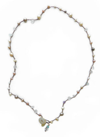 Pearl Mix Maggie Necklace - On U Jewelry