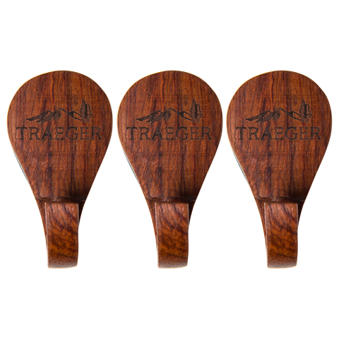 TRAEGER GRILL HOPPER MAGNETIC WOODEN HOOKS - 3 PIECE